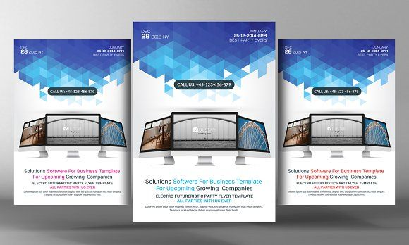 Computer Flyer Template Gallery Template Design Free Download