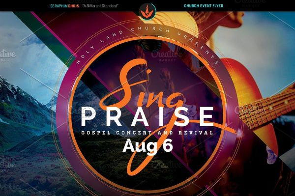 Sing Praise Gospel Concert Flyer Theflyermarket