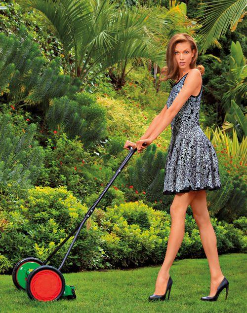 lady lawn mower