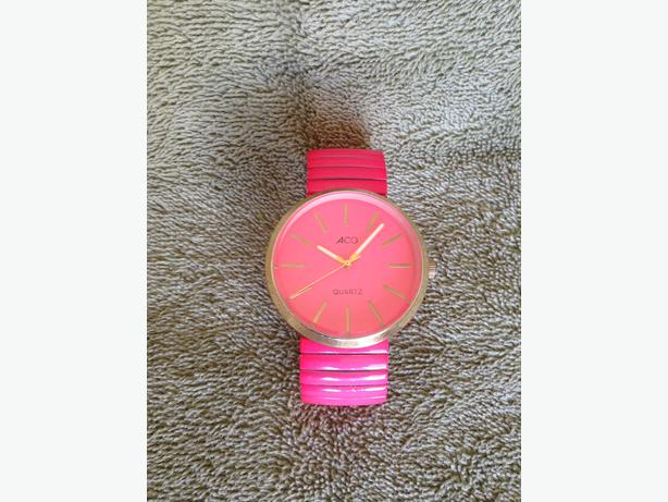Pink Aco Fashion Watch With New Battery