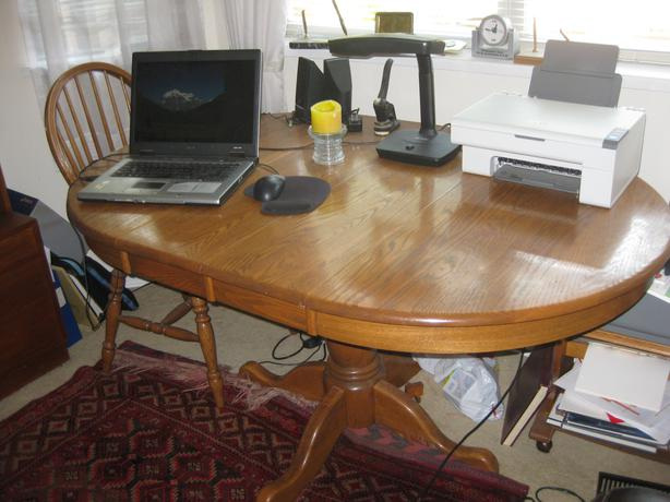 Solid Oak Dining Room Table And 4 Chairs Victoria City