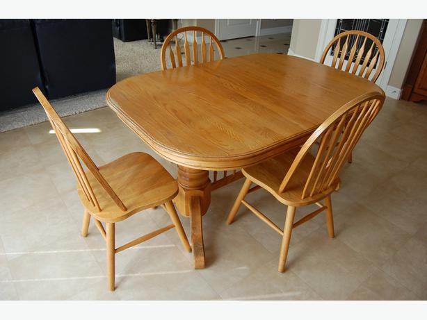 Solid Oak Dining Room Table And Chairs South Regina, Regina
