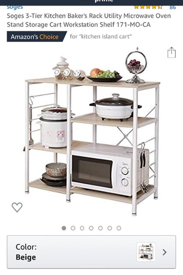 soges 3 tier kitchen baker s rack
