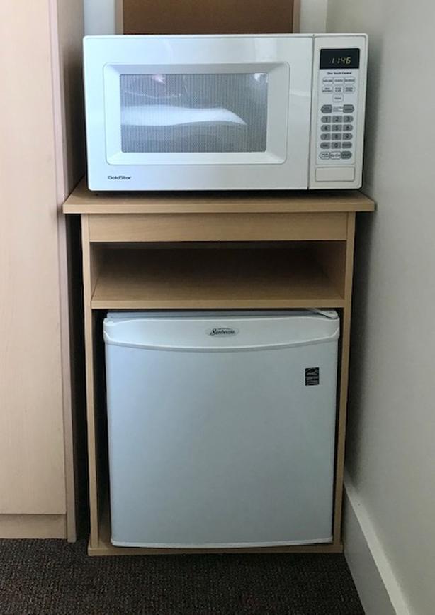 75 mini fridge microwave combo on stand