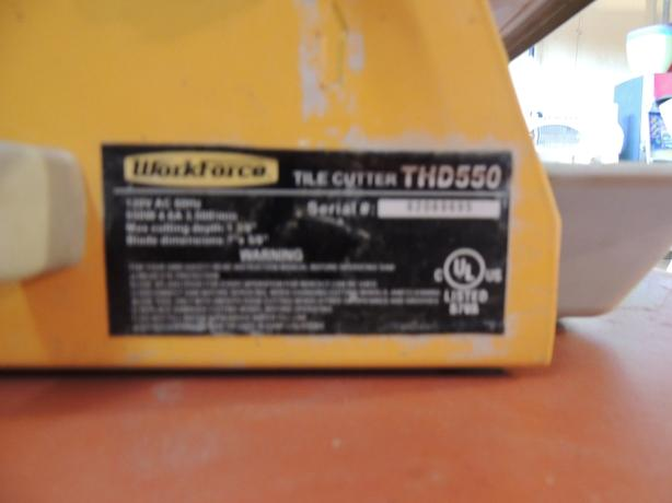 workforce thd550 wet dry tile saw with