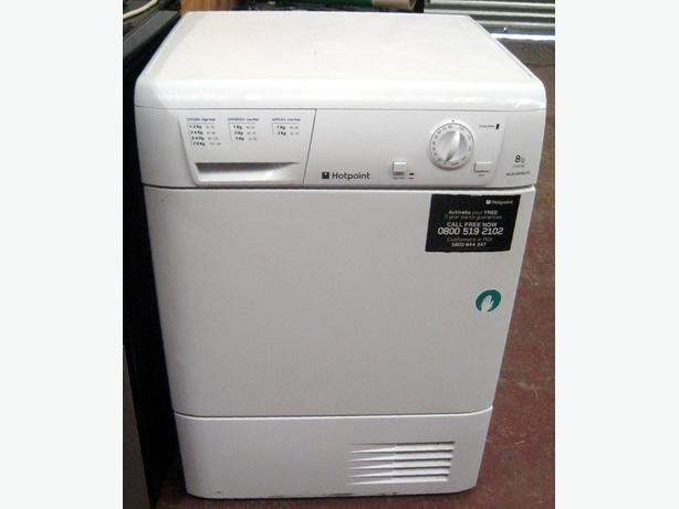 Hotpoint White 8kg Condenser Tumble Dryer TCM580 With