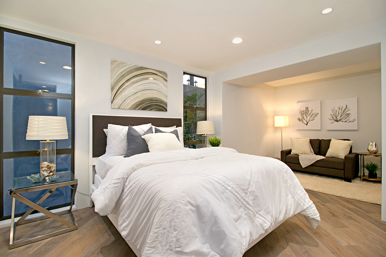 California Coastal Style Home Staging Design By White