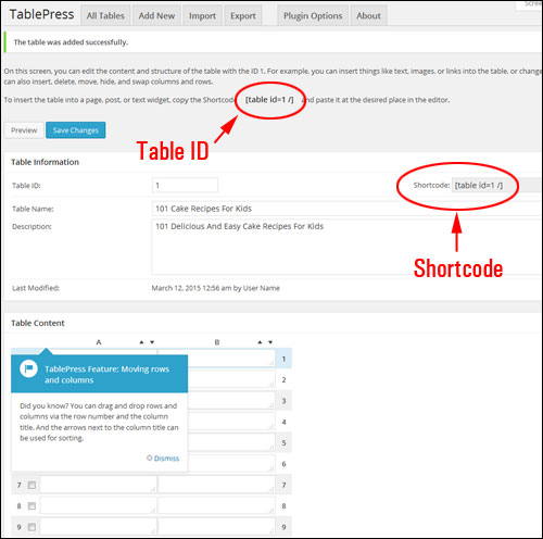 How To Create And Add Tables Into Your Content Easily With WordPress