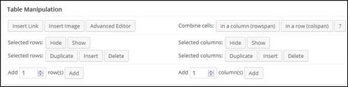 Adding Tables In WordPress
