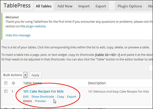 How To Create And Add Tables To WordPress Posts And Pages