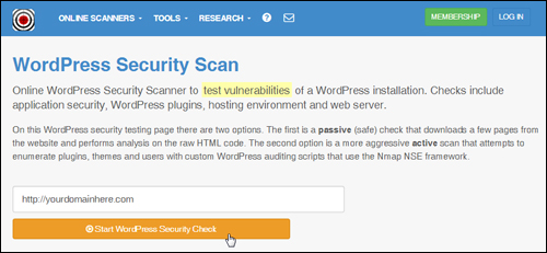 Hackertarget - WP Security Scan