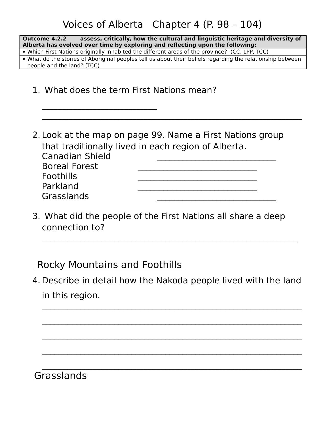 Browse Our Grade 4 Social Stu S Resources