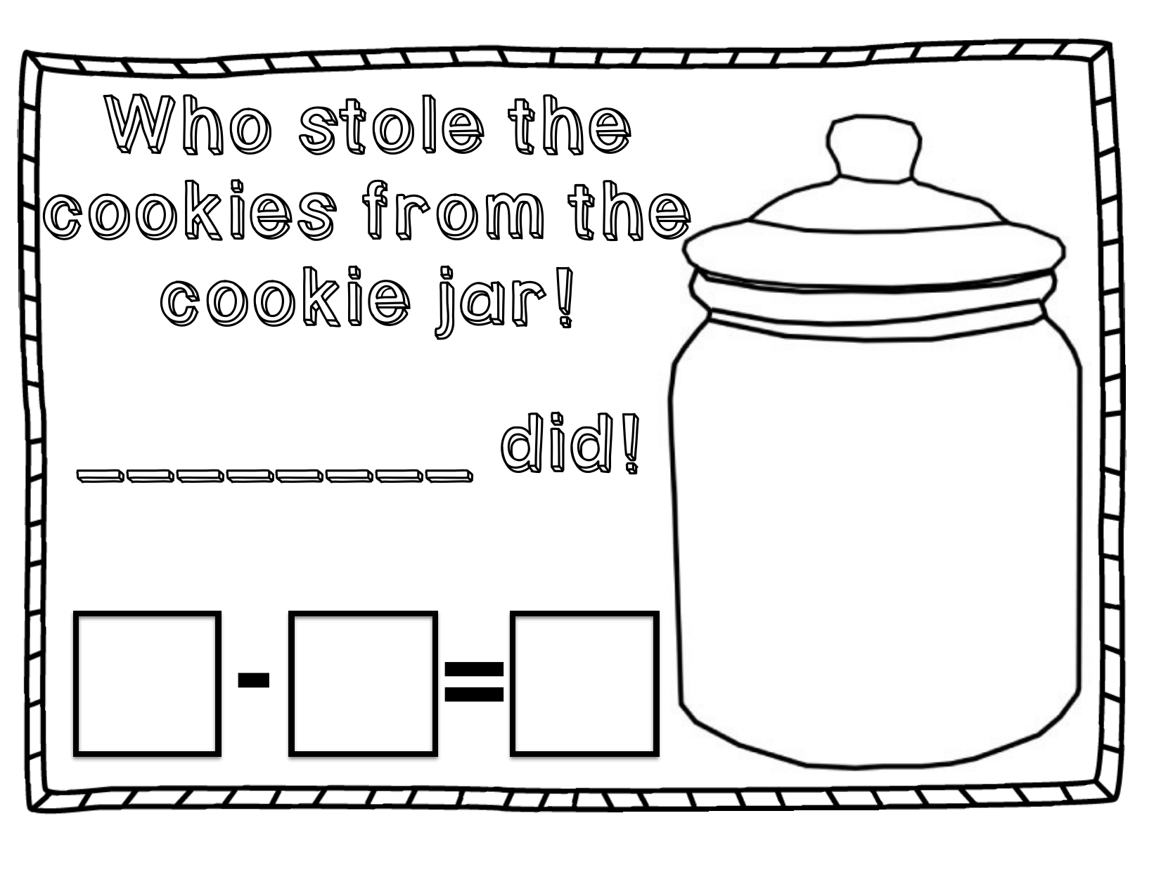 Cookie Jar Math Worksheets Cookie Best Free Printable