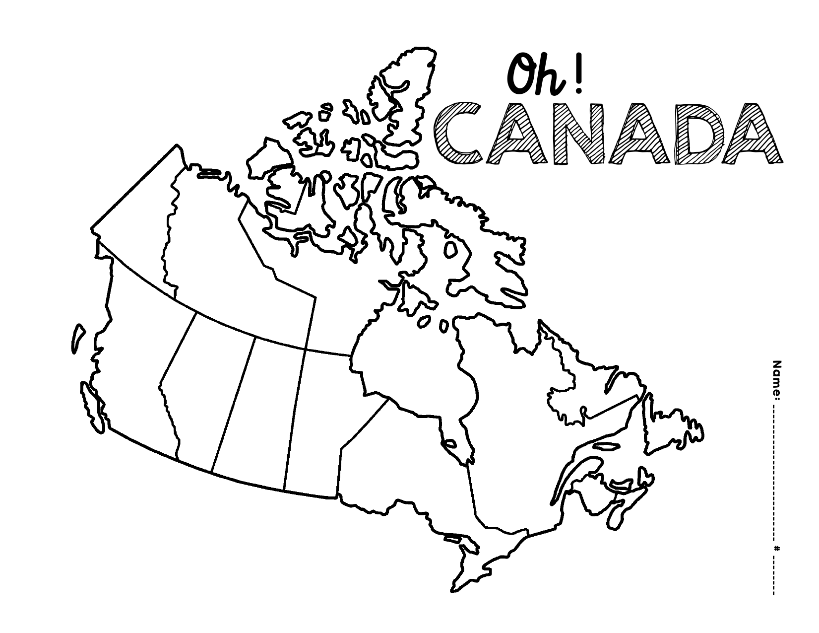 Printable Map Of Canada Worksheet
