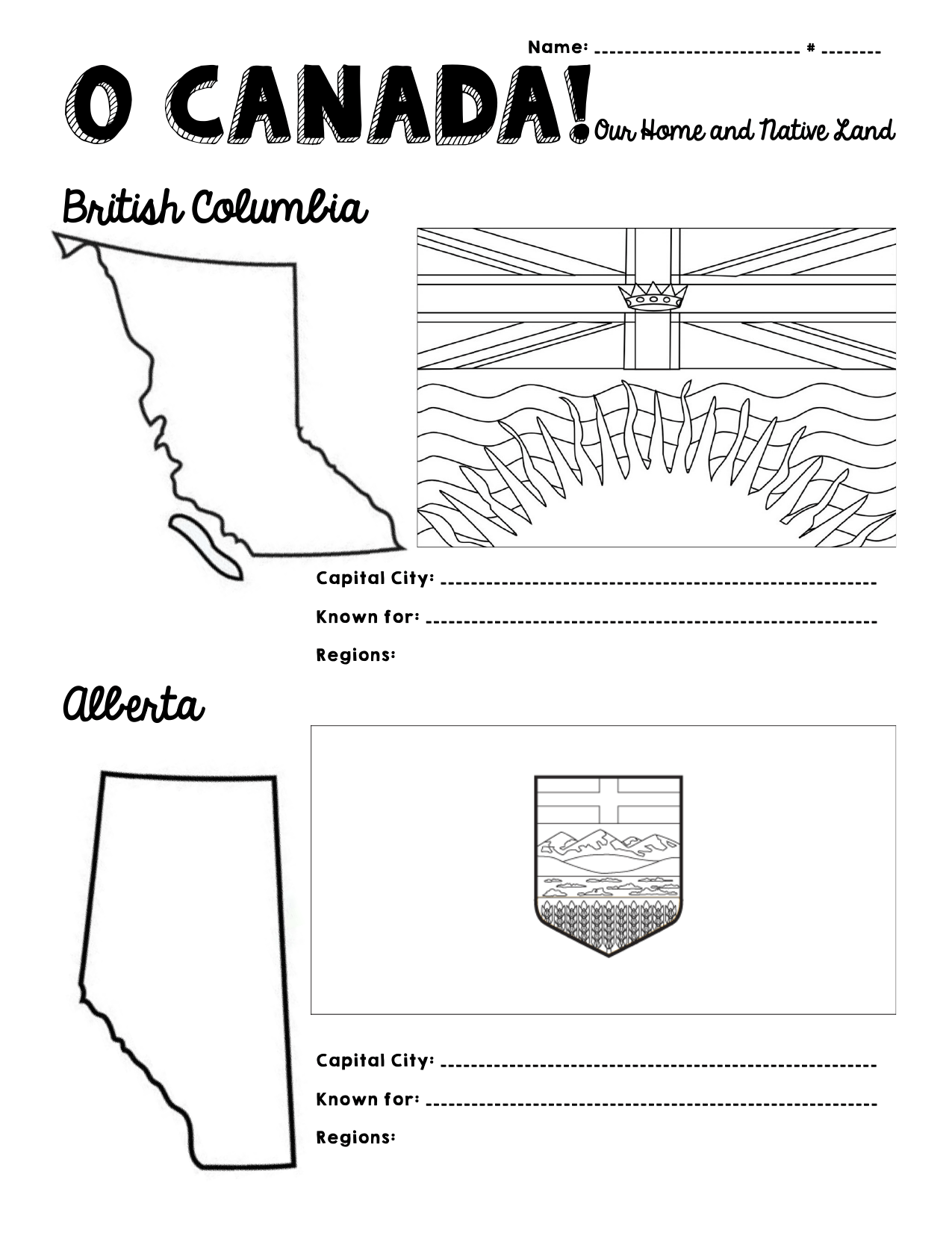 O Canada Provinces And Territories By Mikao Ninja Plans