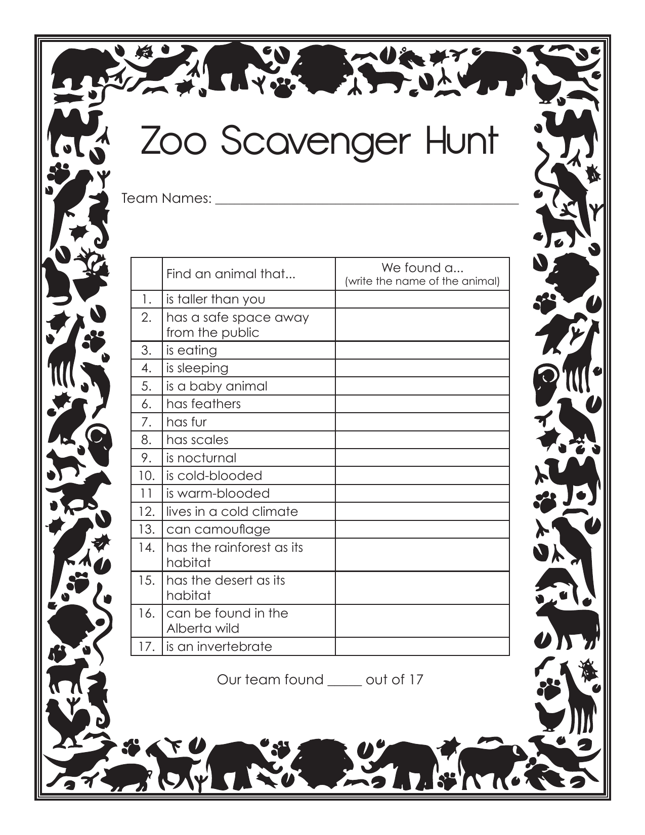Collection Of Zoo Field Trip Worksheet