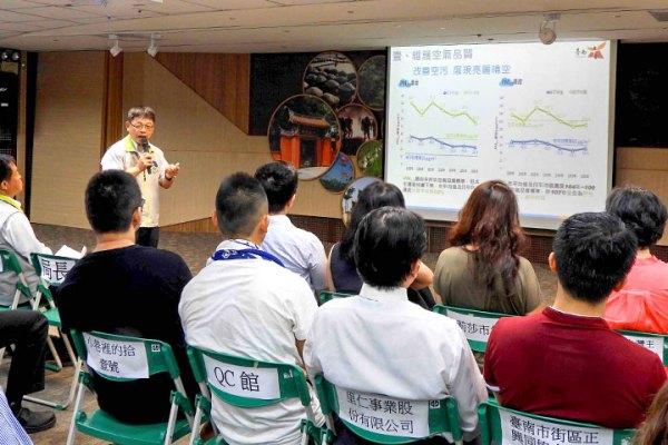 里仁受邀出席臺南市環保局推動的「袋袋相傳大臺南幸運一二三」活動記者會