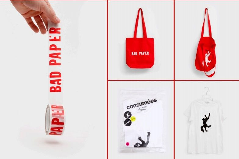 Bad Paper Gallery's Merchandise from bags to security tape