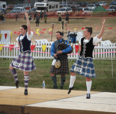 Scottish highland dancers compete at the Whidbey Island Highland Games.