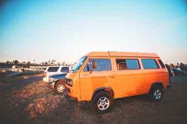 A camper van getaway