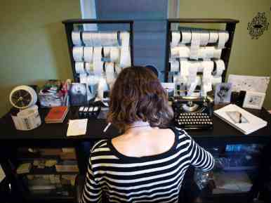 Siems creates all of her products in her home studio in Seattle. Depending on the season, Siems spends between fifteen and thirty hours a week in her studio.