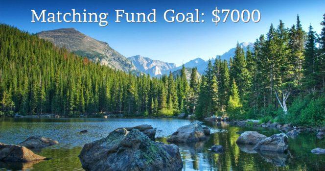 Matching fund goal $7000