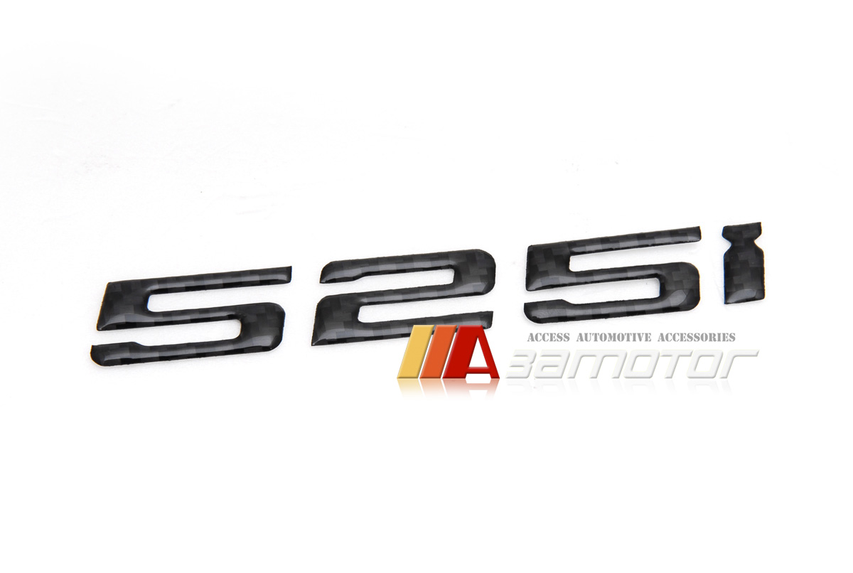 Bmw E60 F10 5 Series Rear Trunk Lid Real Carbon Fiber Emblem Badge Letters 525i