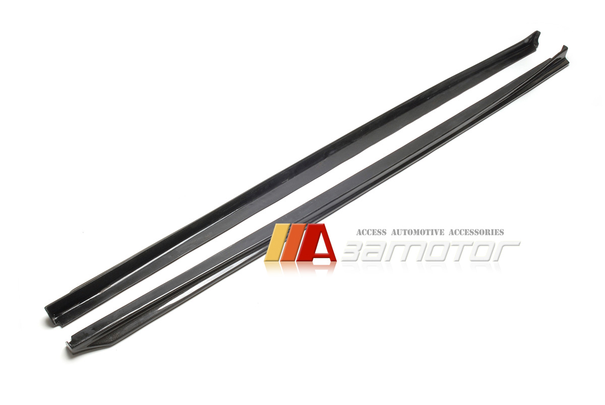 Carbon Fiber 3d Style Side Skirt Extensions 2pc For Bmw