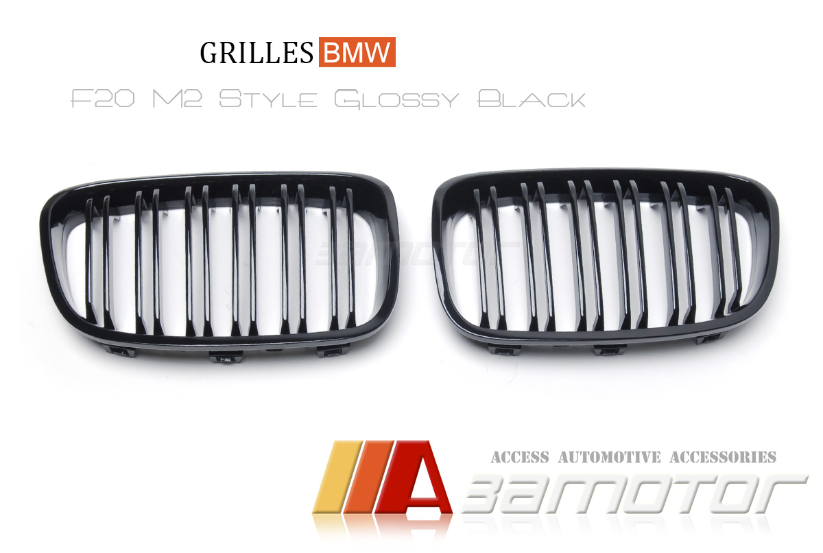 Bmw F20 F21 1 Series M2 Style Glossy Black Dual Slat Front