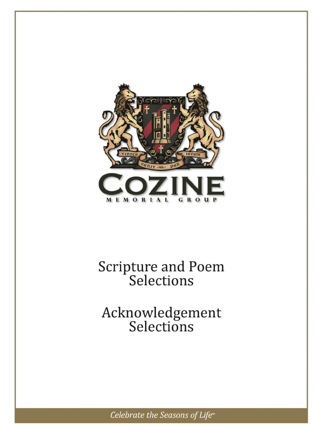 Scripture And Poem Selections