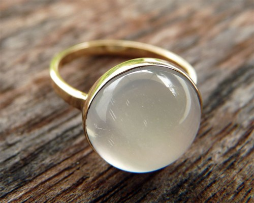 Maria Burgos Midwinter Moonstone Ring