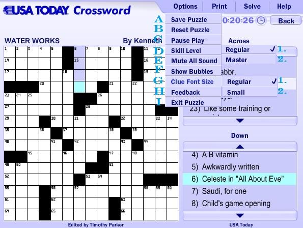 graphic regarding Printable Usa Today Crossword titled United states of america Nowadays Crossword Guidance Advisor