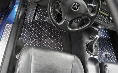 RSX Diamond Plate Aluminum Floor Mats Custom Fit Front