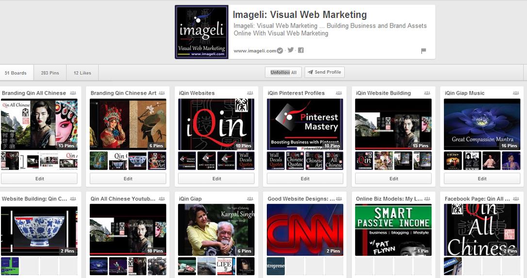 Imageli: Visual Web Marketing Logo. Medium Size Square Format. Image size: 1086x573 px