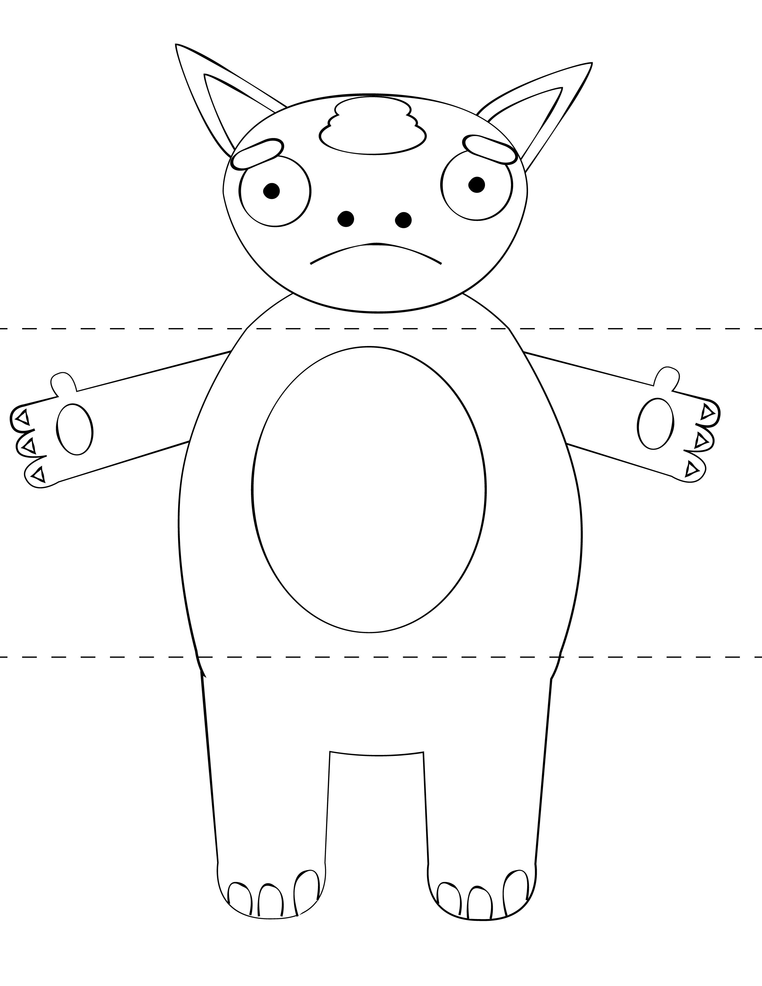 Free Kids Craft Template Make Your Own Monsters