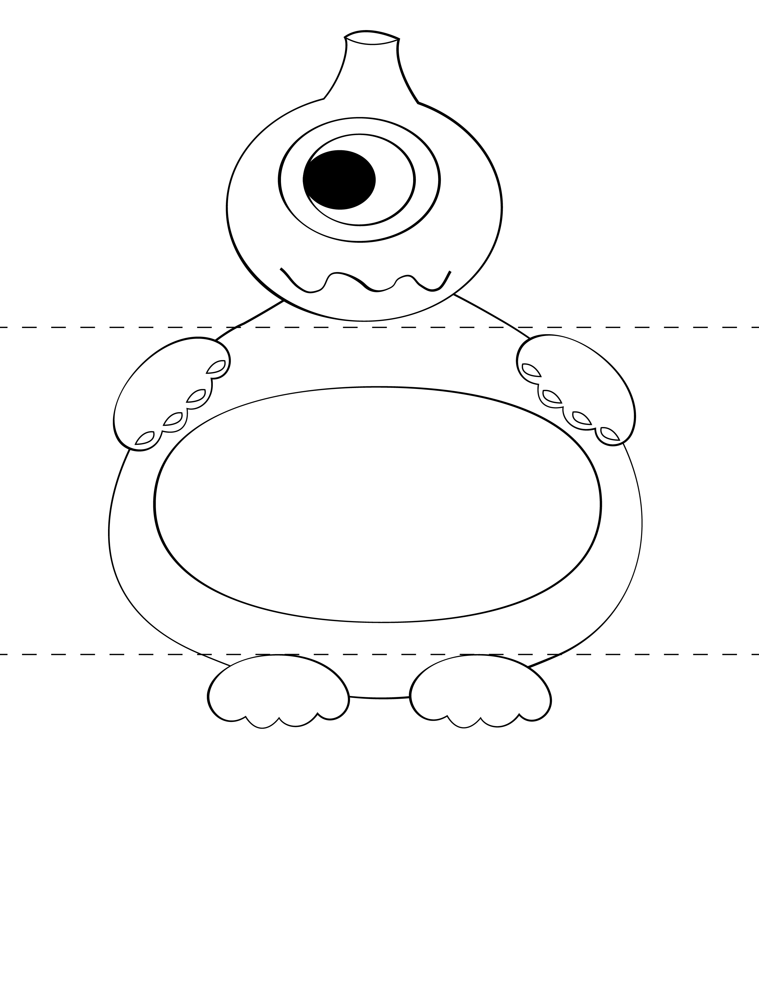 Free Kids Craft Template Make Your Own Monsters Print