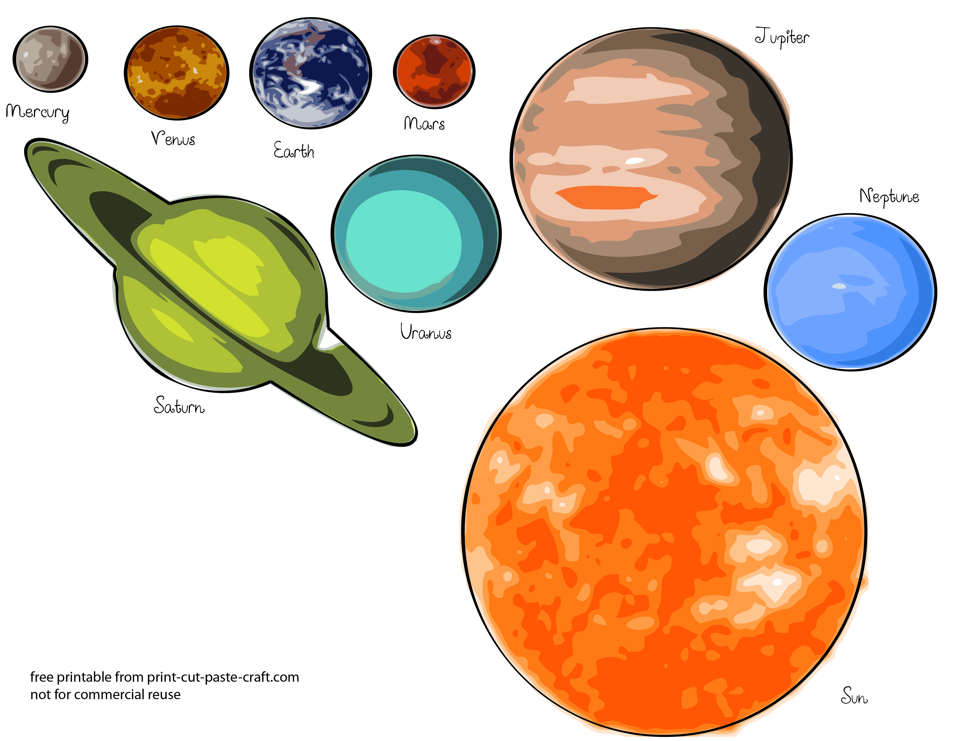 Persnickety image regarding printable solar system pictures