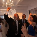 Dancing with family and friends (Ted Schaffer, Hari, Sarah, Rhoney) at Hannah's wedding. (October 23, 2011)