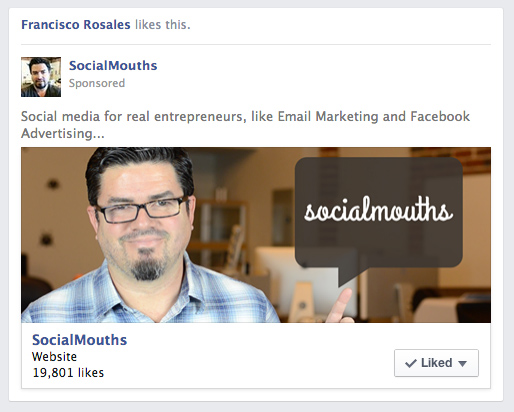 Facebook Page Like Ad Campaign