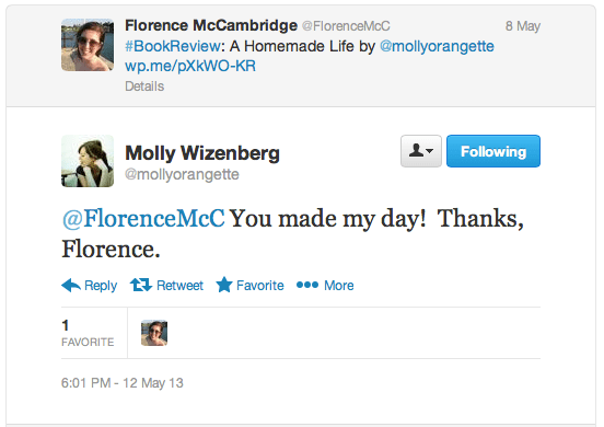 Thank Community on Social Media: Molly Wizenberg