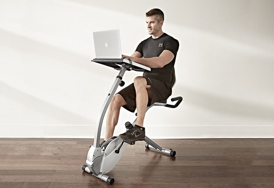 Work and Workout Desk Recumbent Cycle