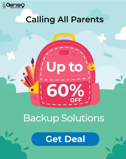 Aveți backup? Toate produsele Genie9 le puteți cumpăra cu până la 60% reducere!