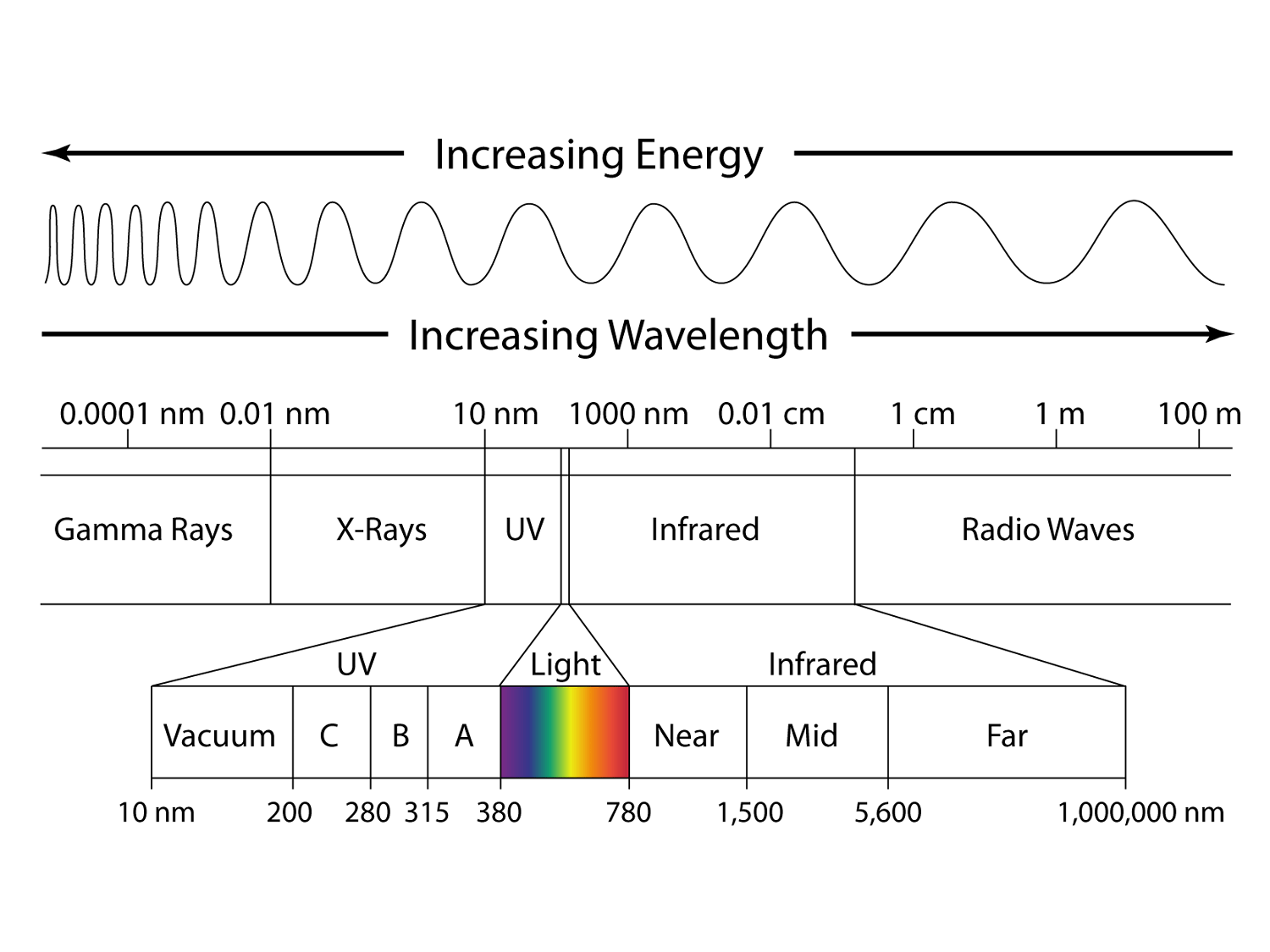 What Is The Shortest Wavelength Of Visible Light In Meters