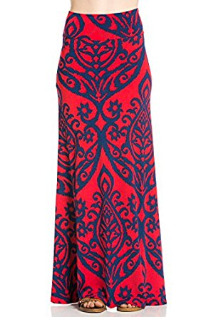 Cody Line Women's Relaxed Comfortable Fit Maxi Skirts