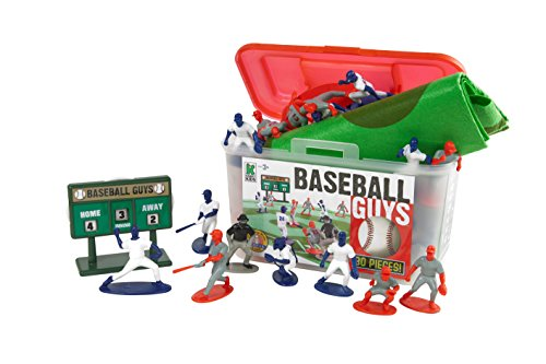 Kaskey Kids Baseball Guys – Inspires Imagination with Open-Ended Play – Includes 2 Full Teams and More – For Ages 3 and Up