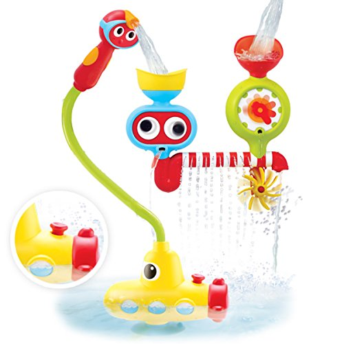 Yookidoo Submarine Spray Station Battery Operated Water Pump with Hand Shower Bath Toy