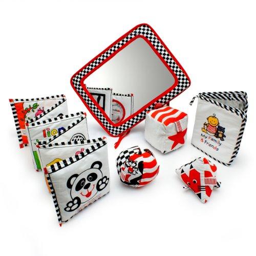 Infant Development Toys Gift Bundle – Black, White & Red.