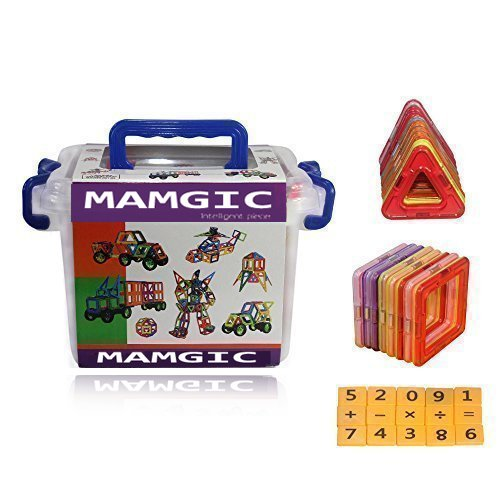 Emaks® Magnetic Building Blocks 52 pieces for Preschool Skills Educational Game Construction Stacking