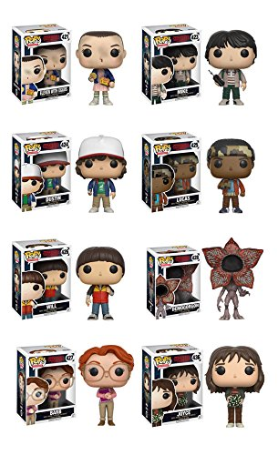 Funko Stranger Things: Eleven, Demogorgan, Barb, Mike, Lucas, Will, Dustin, Joyce Figure Set of 8