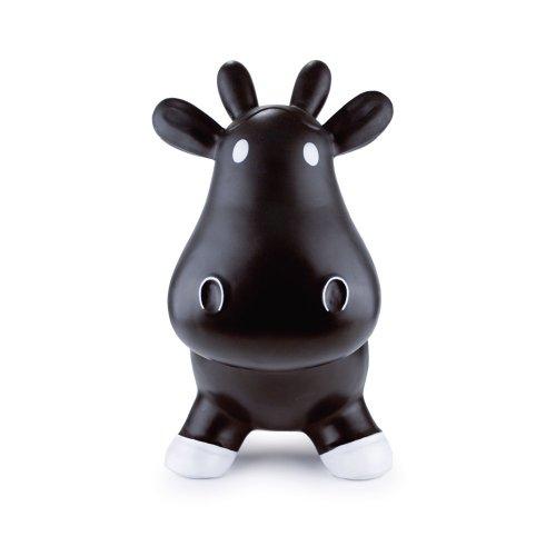 Trumpette Howdy Bouncy Rubber Cow, Black